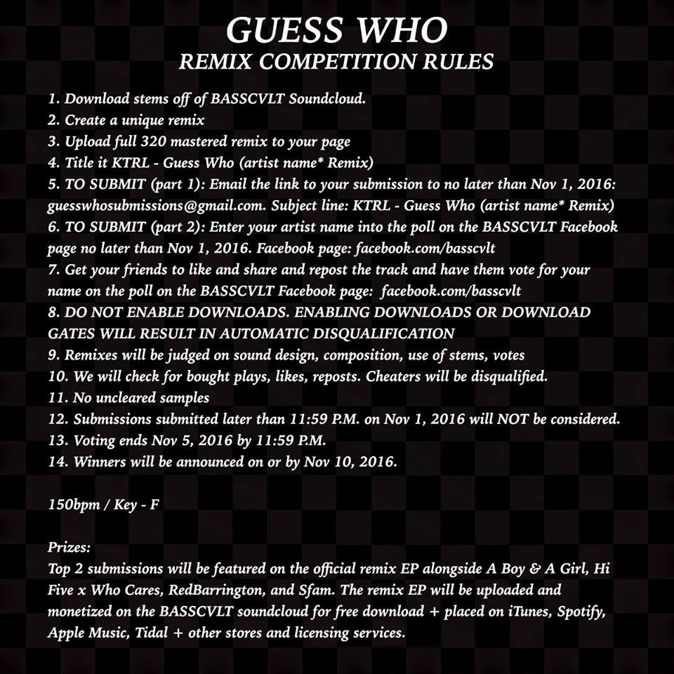 Guess Who Remix Competition